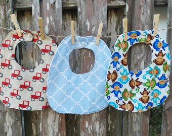 Set of Three Traditional Bibs