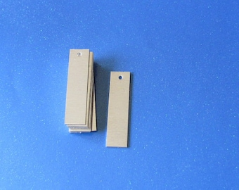 3/8 x 1 - 1/2 Aluminum blanks -22 gauge  -  hand stamping blanks with holes punched  5 or more