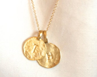 Gold Initial Charm- 14k Gold Plated Single Initial Charm (2 Sizes Available)- Gold Letter Charm- Small Gold Initial Charm