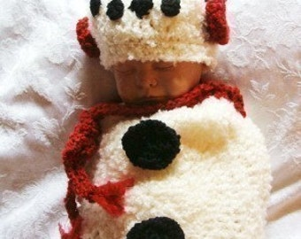 Snowbaby Cocoon and Beanie Crochet Pattern PDF 308