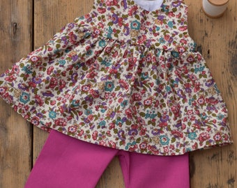 """Dress for 14"""", 16"""" Waldorf doll, Floral"""