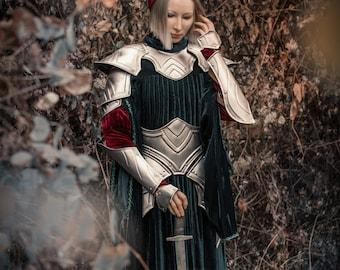 Women's Lady Warrior Full Armor - Female Set Iron Princess-Steel Armor/Bracers/Pauldrons/Gorget/Leg Graves/Skirt handcrafted custom made