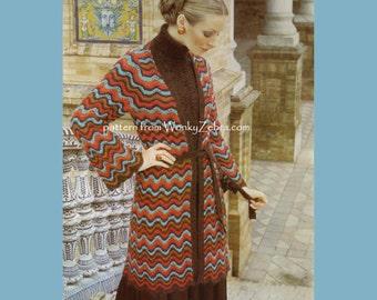 WonkyZebra 826 Ripple Knit Jacket pattern knitted knitting jumper patterns FK75