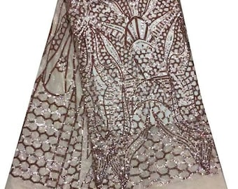 5yards/lot French Net Lace Fabric sparkling sequins on embroidered lace fabric show/stage/evening wedding dress lace fabric