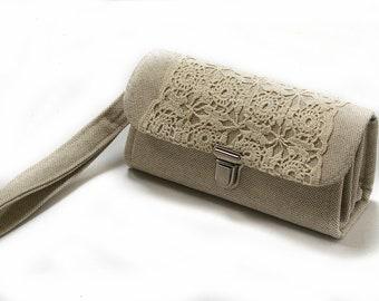 Smartphone Geldbörse Clutch - Medium, Natur Kardinal Iphone 6 7 plus Tasche, Geschenk für Mama einzigartige stilvolle handgemachte Gadget Halter-sofort lieferbar