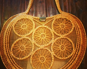 Vintage Rattan Bag by Joske's Made in Italy