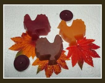 Gobble Gobble Turkey Soap Set, Thanksgiving Favors, Turkey Soap Set, Fall Soap Party Favors, Fall Soap, Autmn Soap, Soap Party Favors