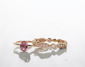 0.47 ct. Oval Pink Sapphire Ring