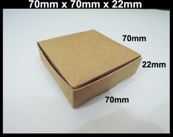 Kraft Paper Box - 10pcs Brown Kraft Boxes Square Paper Box Gift Boxes Gift Wrapping Wedding Favors 70mm x 70mm x 22mm