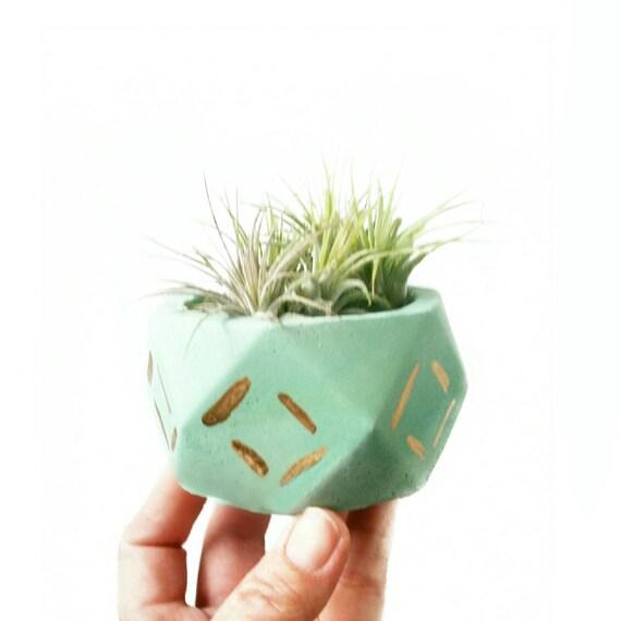 Geometric Planter/Air Planter/Desk Planter/Geometric decor/New Home Gift/Housewarming Gift/Succulent Planter/Modern Planter/Mint decor