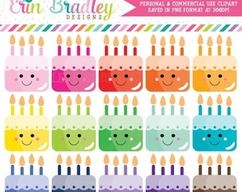 80% OFF SALE Kawaii Cakes Clipart Cake Clip Art Graphics Dessert Clipart Birthday Party Clip Art