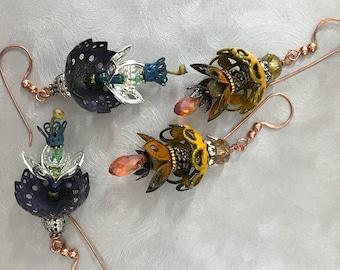 Enameled Fairy Earrings