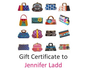 30 dollar gift certificate to Jennifer Ladd's shop, Etsy gift card, Printable gift certificate, e gift card, Bags and purses, Gift voucher