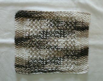 Hand Knit Dishcloth - measures approximately 81/2x91/2 inches