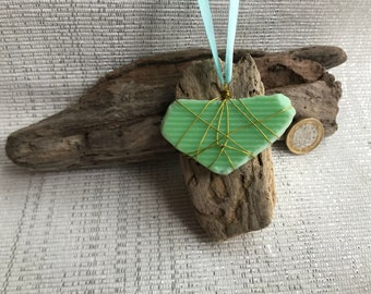 Handmade sea pottery pendant