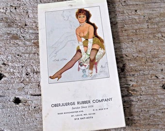 Vintage Pin Up bloc-notes et calendrier 1973 Fritz Willis Lillian animé St Louis, Missouri publicitaire