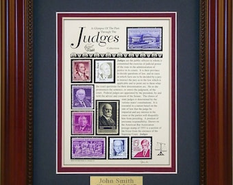 Judges 4292 - Personalized Framed Collectible (A Great Gift Idea)