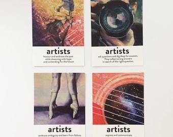 Inspirational artist postcards