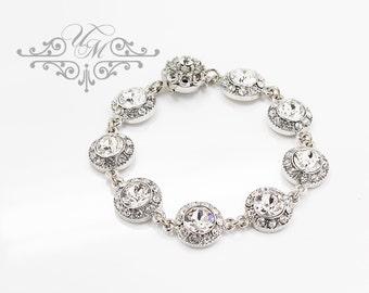 Wedding Jewelry Bracelet Single strand Swarovski Crystal Bracelet Bridal Bracelet Bridal Jewelry Bridesmaids Bracelet Prom Bracelet - ORLA