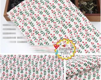 1 x coupon 50x145cm Huateng vegetation pattern pure linen fabric