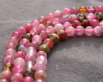 20 beads tourmaline pink set of 4mm 6.90 euros 20