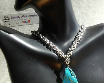 Jens Pind Turquoise Color Stone Necklace