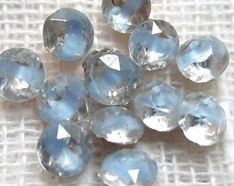 Vintage 12 Clear & Blue Givre Rhinestones 17Ss*4Mm*Glass Loose Stones*W.Germany