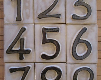 House Number Ceramic Tiles