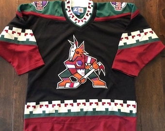 Vintage 90s Phoenix Coyotes CCM Alternate Sewn NHL JerseyBoys/Youth Lg/XL