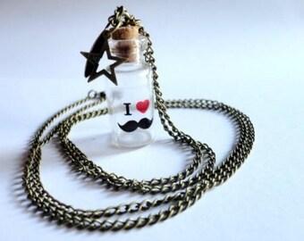 Necklace - I love mustache