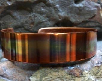 Single Stripe Copper Cuff Bracelet