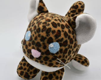 Chibi Cub Roll Cheetah Plush - MADE TO ORDER - chibi cat plush, roll, lion, tiger, snow leopard, cheetah, cat plushie, pillow, zooanimal