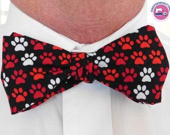 Puppy Paws Bow Tie - Bowtie, Bow Tie, Men's Bowtie, Men's Bow Tie, Bowties, Bow Ties, Wedding Ties, Ties