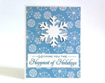 Holiday Card Set - Boxed Christmas Cards - Holiday Cards Boxed Set - Snowflake Cards - Unique Christmas Cards - Christmas Cards Boxed Set