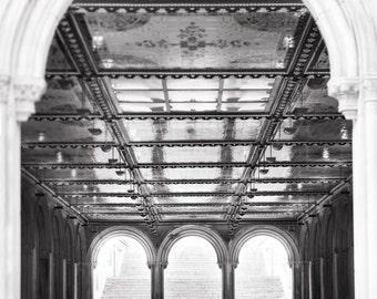 New York City Photography - Bethesda Terrace, Central Park, Urban Home Decor, Large Wall Art