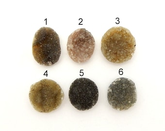 Oval and Round Druzy Stone - You Choose (RK1B1-38)