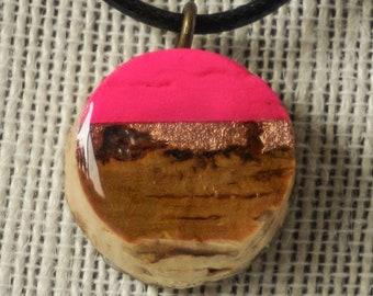 Horizontal Cork Necklace