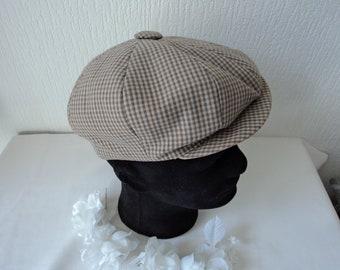 French vintage men's flat cap  (06133)