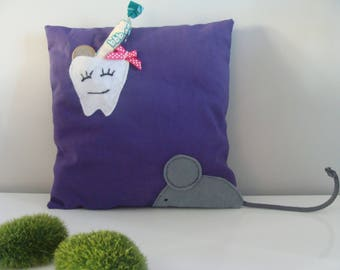 Purple tooth pillow