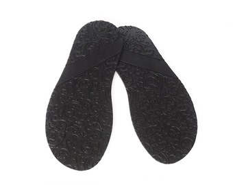 Rubber Outsoles felted shoes and leather footwear Black rubber moxies soles house slipper non slip soles flexible Custom shoe soles 327 mm