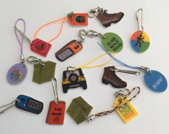5 Geocaching Zipper Pulls - Geocaching Swag