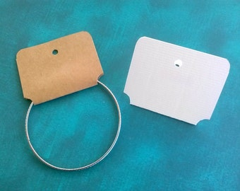 Bracelet Cards, Set of 30, necklace cards, Jewelry Supply, headband display with Adhesive