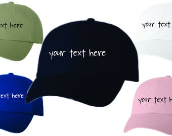Dad Hat Baseball Cap Embroidered Custom Text