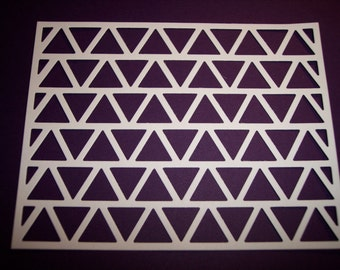Fancy Triangles Background Die Cuts Set of 4