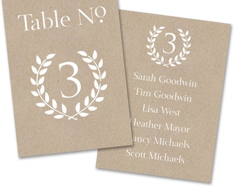 Rustic Table Number - Wedding Table Numbers - Rustic Wedding Table Number - Reception Table Numbers - Tented Table Number - TN03