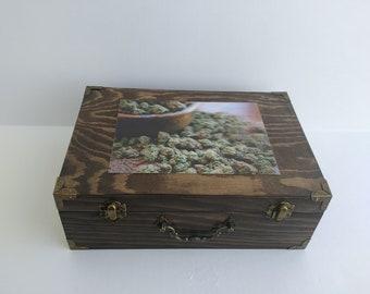 3D Image Cannabis Stash Box