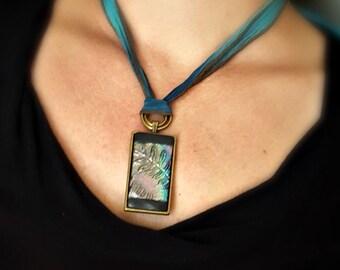 Jewelry Ceramic Ceramic Jewelry Ceramics Handmade Jewelry Pendant Raku Silk Ribbon Gift for Women Gift for Her Laura Souder