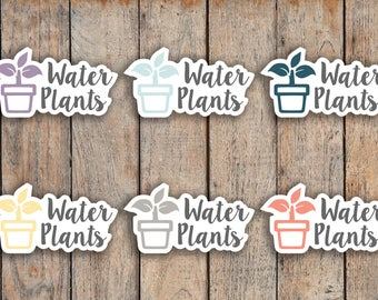 30 Water Plants, Plant Care Icon Planner Stickers for 2018 inkWELL Press Planners IWP-Q73