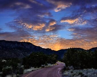 Albuquerque Sunrise Landscape Photograph Print 8x12 (and larger) Fine Art Photo Print, New Mexico Mountains Wall Art