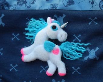 Unicorn Gift Party Felt Brooch Magical Unicorn Jewelry Cute Unicorn Lovers Unicorn Pin Unicorn Felt Unicorn Needle Felted Brooch Unicorn